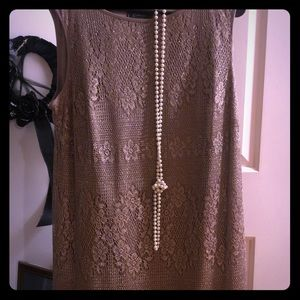 Flapper 14 xl dress costume rose gold color
